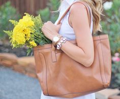 Summer Style- Target Tote, Ann Taylor White Eyelet Dress