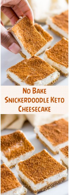 Snickerdoodle Keto Cheesecake No Bake (Low Carb, Sugar Free) This keto cheesecake no bake snickerdoodle version is super easy and sweet. Low carb with an almond flour crust or crustless sweetened with stevia. Desserts Keto, Keto Snacks, No Bake Desserts, Dessert Recipes, Delicious Desserts, Ketogenic Recipes, Ketogenic Diet, Low Carb Recipes, Free Recipes