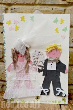 DIY Wedding Card for Kids to their Teacher (Love is.) - child made wedding day card full of conversation heart love notes from the children! Wedding With Kids, Wedding Crafts, Diy Wedding, Trendy Wedding, Rustic Wedding, Wedding Ideas, Paper Crafts For Kids, Diy For Kids, Gifts For Kids