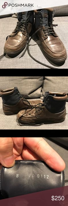 Authentic Louis Vuitton Hiking Shoes I'm letting go this Authentic Louis Vuitton Hiking Men's Shoes.  Used and obviously has signs of wear and tear but just added to the classic look of any Louis Vuitton product. Size 8 men's size. Please check the pictures for the flaws that spice up the eccentric look. Louis Vuitton Shoes Boots