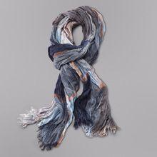 Wholesale Brand Winter Scarf Men Warm Soft Tassel Bufandas Cachecol Gray Plaid Woven Wrinkled Cotton Men Scarves(China (Mainland))