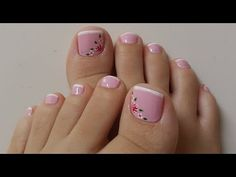 DECORAÇÃO UNHAS DOS PÉS - ROSA COM FRANCESINHA - YouTube Pink Toe Nails, Pink Toes, Manicure E Pedicure, White Butterfly, Nail Ideas, Youtube, Feet Nails, French Nails, Nail Bling