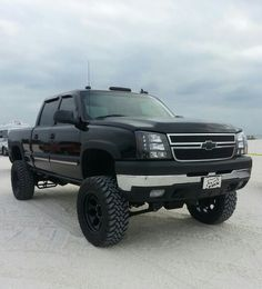 The Dmax got a 7 in BDS lift. 20 in Mickey Thompsons W 35 in open country MT ♥ 2004 Chevy Silverado, Chevy Duramax, Silverado Truck, Chevy Pickup Trucks, Gm Trucks, Jeep Truck, Chevrolet Trucks, Diesel Trucks, Lifted Trucks