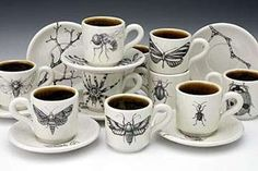Laura Zindel's Dishware is Infected With Insects and Birds #kitchen trendhunter.com