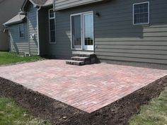 Simple Patio. Paver Patio Cost, Landscaping Around Patio, Landscaping Ideas,  House Furniture