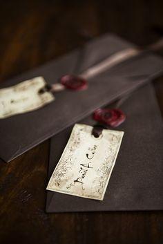 Wax seal affixes gift tag