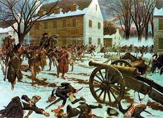 The Battle of Trenton took place during the American Revolutionary War, after General George Washington's crossing of the Delaware River north of Trenton, New Jersey.