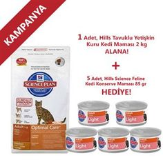 Hills Feline Tavuklu Yetişkin Kuru Kedi Maması 2 kg Alana + 5 Adet Hill's Kedi KOnservesi Hediye
