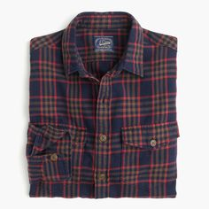 Midweight Flannel Shirt In Plaid : Men's Shirts J Crew Men, Tartan Plaid, Cashmere Sweaters, Mens Suits, Style Me, Mens Fashion, Casual, Cotton, How To Wear