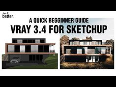 Vray for Sketchup for Beginners/ Quick Start – Art Drawing Tips Sketchup Rendering, Photoshop Rendering, Architecture Program, Architecture Drawings, Architecture Visualization, Siding Materials, Windows Software, Site Plans, Drawing Tips