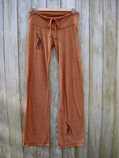 long winded Giraffe Yoga Pants in Terracotta by nicandthenewfie, $28.00