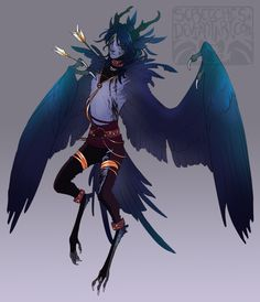 Demon Harpy Boy DESIGN AUCTION (closed) by Screeches