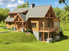 Wie viel kostet ein Holzrahmenhaus – Woodhouse The Timber Frame Company? A Frame Cabin, A Frame House, Cabin Homes, Log Homes, Style At Home, Cabin Plans, House Plans, Cape Cod Style House, Timber Frame Homes