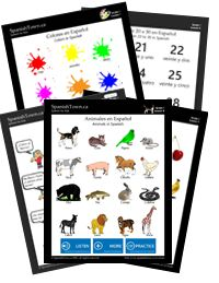 great website with tons of free printables for elem. spanish.