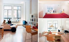 Loft Bed turns Single-Floor Studio to Two-Level Apartment