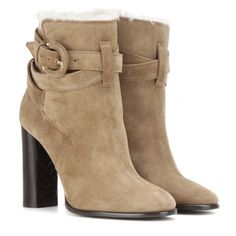 Burberry Brit Stackholme Suede Ankle Boots (€930) ❤ liked on Polyvore featuring shoes, boots, ankle booties, ankle boots, burberry, botas, ankle shoes, brown, suede boots and brown ankle booties