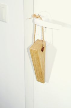 Door Stops Wooden Doorstop eco friendly Door stop home by Holeybox