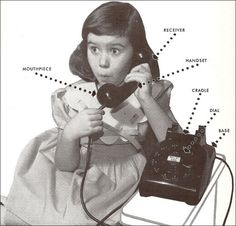 Vintage Deluxe — 1950sunlimited:   How to Talk on the Telephone...