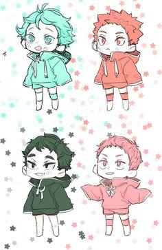Kid Iwa-chan, Oikawa, Mattsun, & Makki  https://mobile.twitter.com/522wa/status/654371517468274688