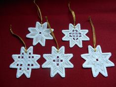 Hardanger Ornaments - stitchin fingers Types Of Embroidery, Learn Embroidery, Floral Embroidery, Embroidery Patterns, Hand Embroidery, Hardanger Embroidery, Cross Stitch Embroidery, Christmas Angels, Christmas Ornaments