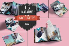 Awesome Magazine PSD Mockups Vol. 2 by ZippyPixels on @creativemarket