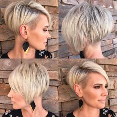 20 most popular short hairstyles for women style designs Short hairstyles for women are also the trend in 2019 Pixie shorthair shorthairstyles shorthaircut The most beautiful picture for nbsp hellip Popular Short Hairstyles, Trending Hairstyles, Very Short Bob Hairstyles, Hairstyle Short, Layered Haircuts, Hairstyle Ideas, Short Blonde, Blonde Hair, Dark Hair