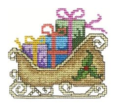 Sleigh Cross Stitch Christmas Machine Embroidery Designs by www.embroideryemotions.com by embroideryemotions, via Flickr