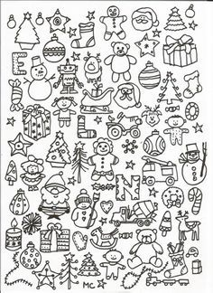 cherche et trouve (suite) - Christmas Pins 2019 Christmas Doodles, Christmas Drawing, Christmas Coloring Pages, Christmas Bags, Christmas Colors, Christmas And New Year, Christmas Crafts, Colouring Pages, Adult Coloring Pages