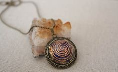 """Protection """"Orgone energy"""" """"December Birthstone"""" Reiki energy gifts for her Creating Positive Energy, Spiritual Power, Reiki Energy, Ball Chain, Lapis Lazuli, Intuition, Antique Gold, Birthstones, Im Not Perfect"""