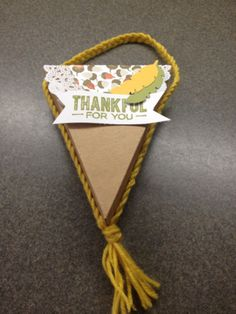 October 2014 Paper Pumpkin alternate idea. Cool idea to braid a handle instead of creating a pom pom. Stampin' Up!