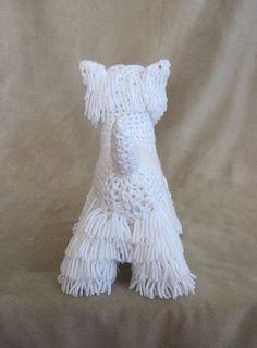 Westie PDF Crochet Pattern Digital Download door ScareCrowOriginals