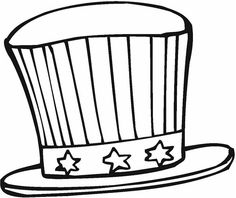of july hat coloring page - Uncle Sam Hat Coloring Page