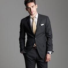 Black suits for groomsmen