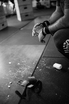 CrossFit Chalk Hands by Sahil Parikh Photography on Creative Market