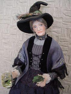 WITCH - Dollshouse doll by Debbie Dixon-Paver