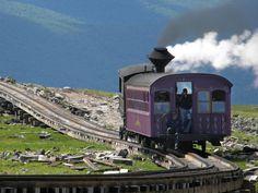 Cog Railway train on Mount Washington in New Hampshire