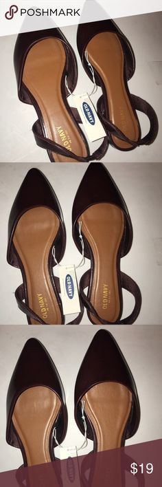 Burgundy Slides NWT from Old Navy Old Navy Shoes Flats & Loafers