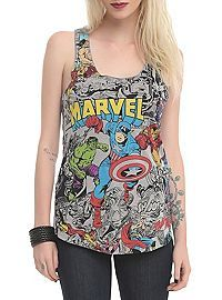 Marvel Comics Color Pop Girls Tank Top from Hot Topic