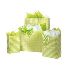 Apple Green Gingham Bags ❤ liked on Polyvore featuring bags, handbags, gift, objects, shopper handbags, shopping tote bags, green shopping bags, green bag and green purse