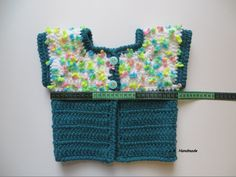 Crochet Girls Vest 2T to 3T Girls clothes Spring by ladybird113