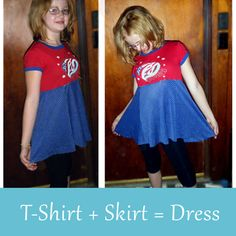 Reuse old clothing to create a dress with a perfect fit.