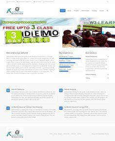 WordPress site kalotrainfotech.com uses the The7 theme wordpress