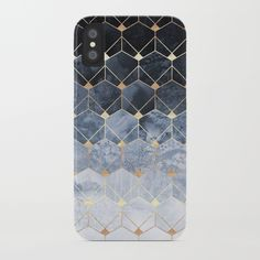 Blue Hexagons And Diamonds iPhone Case by Elisabeth Fredriksson. Worldwide shipping available at Society6.com. Just one of millions of high quality products available.