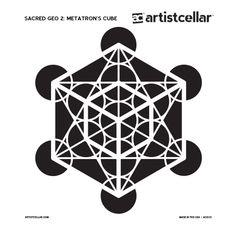 Sacred geometry Stencil