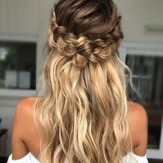 off the shoulder wedding hairstyle