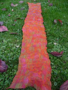 herbstschal 1 - autumn scarf nuno felt
