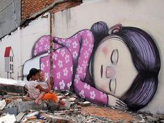 Grafiteiro cria murais gigantes inspirados em comunidades locais pelo mundo