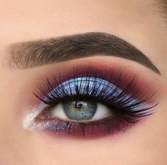 These colors are awesome together love that bold purple color for the pop of color on top of the brow bone and  the bottom of the of the eye! So Gorgeous! (: