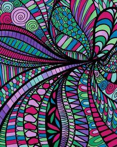 ColorIt Wild Doodles Colorist: DeAnna Savory #adultcoloring #coloringforadults #adultcoloringpages #doodle
