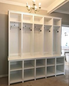 Readers who build your projects are the best!  Check out this beautiful locker style mudroom build by @peteralkema for his 5 kids. 🔨⚙️🔩📐Love the double decker cubbies on the base.  Free plans for this on the blog search locker or type www.thatsmyletter.blogspot.com/2015/10/locker-style-mudroom-shoe-cubbies.html